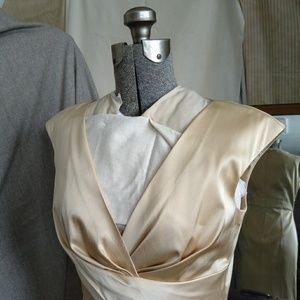 Donna Ricco Champagne Evening Dress